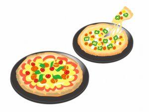 ピザのイメージイラスト